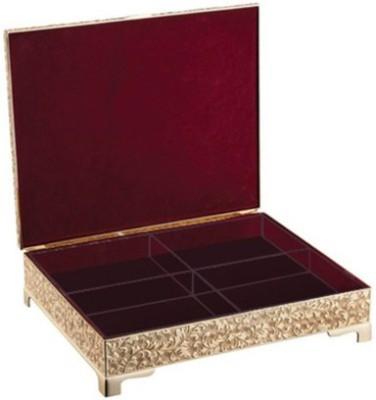 Treta 4 in 1 Golden Dry Fruit Box Jewelry Vanity Box(Gold)