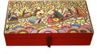 Ganges Art Gallery Madhubani Painting Multi Purpose Box Jewellery Vanity Box