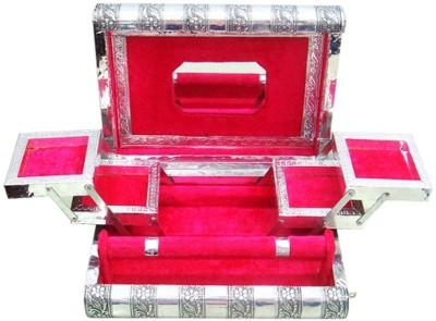 Ermani Export White Metal Jewellery Box Makeup Vanity Box