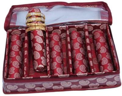 Ermani Export Bangle Box 5 Rod In Maroon Brocade Bangle Box Vanity Box