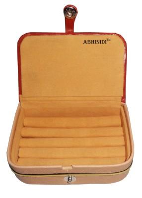 Abhinidi Set of 1 velvet ring storage travelling folder case Box Vanity Box(Brown)