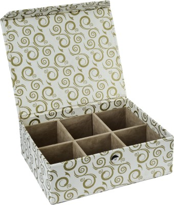 Ecoleatherette 6 Partition Bangles Vanity Box
