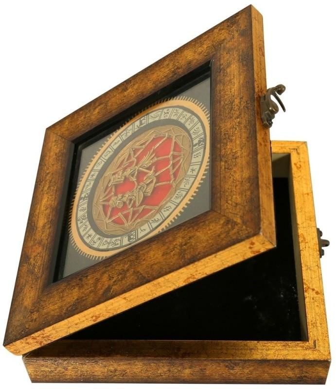 Indikala Golden Square Warli Dhokra Box Vanity Box