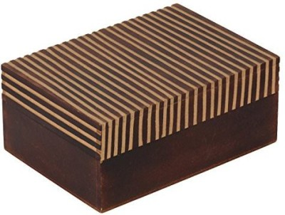 The Decor Mart Decor Mart - Jewellery Box - Wood - Brown - 5 X 7 inch Makeup Vanity Box