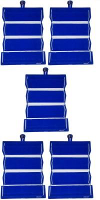 Abhinidi Set of 5 Maroon velvet coated Earring folder case Box Vanity Box(Blue)