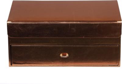 Leather World classic Jewellery Vanity Box