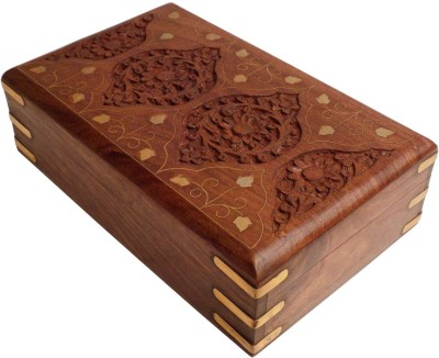Crafts,man Beautiful Jewellery with Carving Perfect Gift for Anniversary, Wedding, Birthday Vanity Box