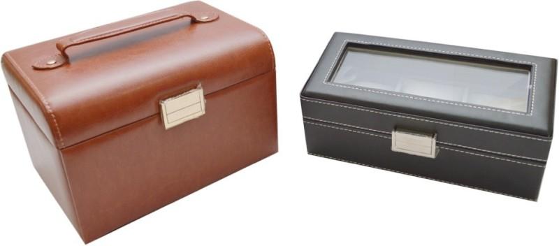 Knott BLU/VB-911 Jewellery, watch Vanity Box(Brown)