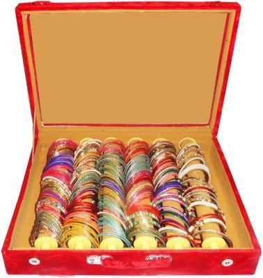 Atorakushon 6 Roll Rod Bangles Jewelry Storage Vanity Box