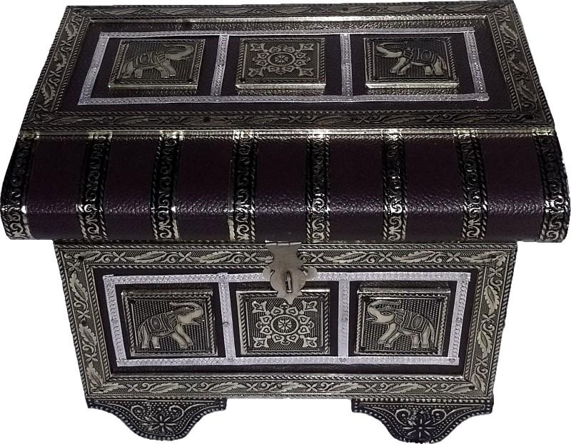 Aurum Chest Jewellery Storage Box Vanity Box(Brown, Golden Oxidized)