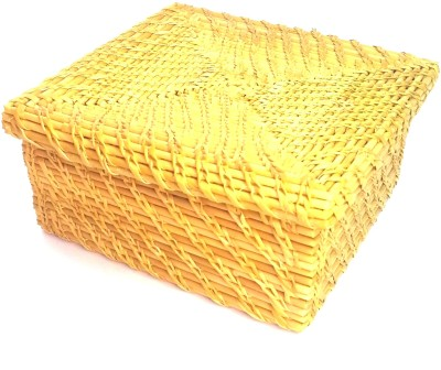 Jupiter Gifts And Crafts Golden Grass Jewelery box Vanity Box(Gold)