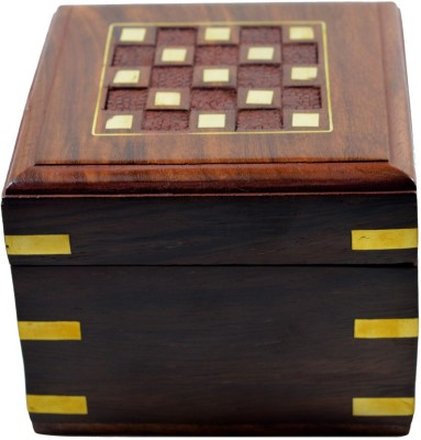 Craftuno Craftuno Handcrafted Wooden Jewellery Box Decorative Vanity Box