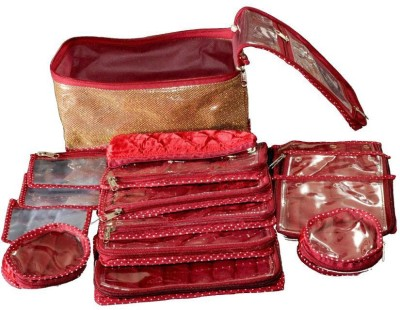 Srajanaa Organiser Boxes For Locker 15 Pcs Set Vanity Box