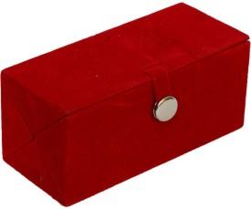 Kuber Industries Earing Organiser In Hard Board Material (12 Pair Capacity) Make up Vanity Box(Red)