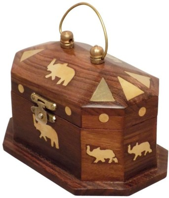 Craftsman Wooden Beautiful Jewellery Box With Carving Perfect Gift for Anniversary, Wedding, Birthday Vanity Box