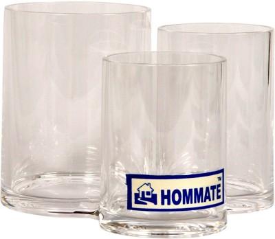 Hommate Cotton Buds Organizer Acrylic 3 Glass Makeup Vanity Box