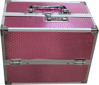 Platinum JD 19-1 Cosmetic 7 Compartment with Lock Makeup, Jewellery Vanity Box