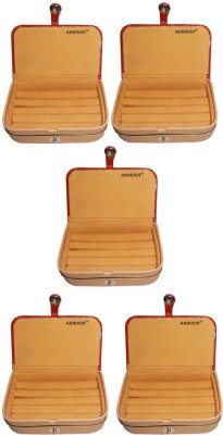 Abhinidi Set of 5 velvet ring storage travelling folder case Box Vanity Box