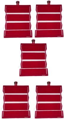 Abhinidi Set of 5 Maroon velvet coated Earring folder case Box Vanity Box(Maroon)