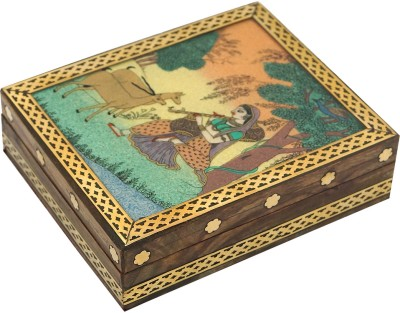 R S Jewels Indian Stone Painting Wooden Handicraft Jewellery Vanity Box