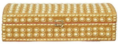 Falak Handicrafts Double Rod Golden Bangle Box Vanity Box