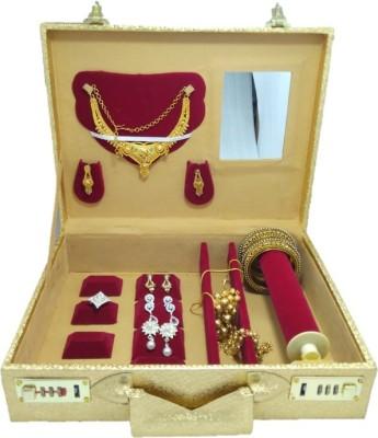 Lnc golden double lock system nackles jewelery box for women Jewellary Storage Vanity Box