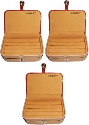 Abhinidi Set of 3 velvet ring storage travelling folder case Box Vanity Box