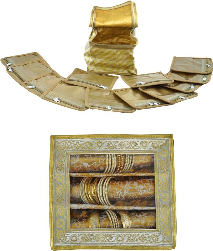Bahurani Boutique Combo of Small Jewellery Vanity Box(Gloden)