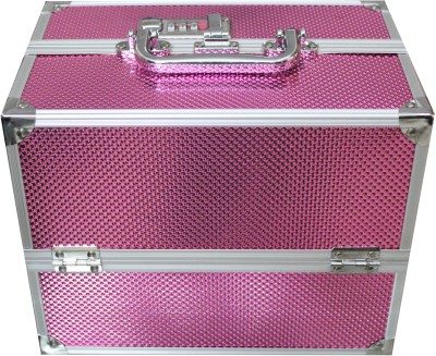 Platinum Cosmetic 5 Compartment With Lock Makeup, Jewellery Vanity Box