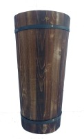 Decorum Wooden Vase(16 inch, Multicolor)
