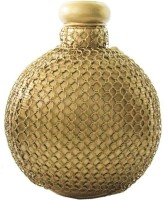CraftedIndia Iron Vase(7.4 inch, Gold)