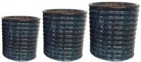 Potsnmore Ceramic Vase(1 inch, Blue)