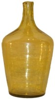 Salt & Grey Interiors Glass Vase(15 inch, Yellow)