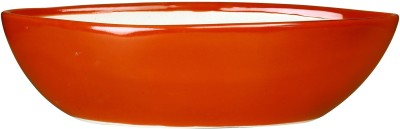 caffeine Planter in Glossy Red Boat (1 Pc) Handmade Stoneware Vase