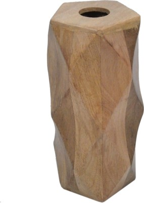 GolMaalShop Flower Big Wooden Vase