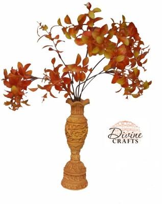 Divinecrafts Carved Flower Pot Wooden Vase