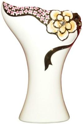 White Gold Porcelain Vase