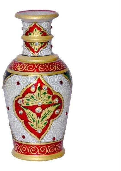 Chitra Handicraft Marble Flower Pot Stoneware Vase
