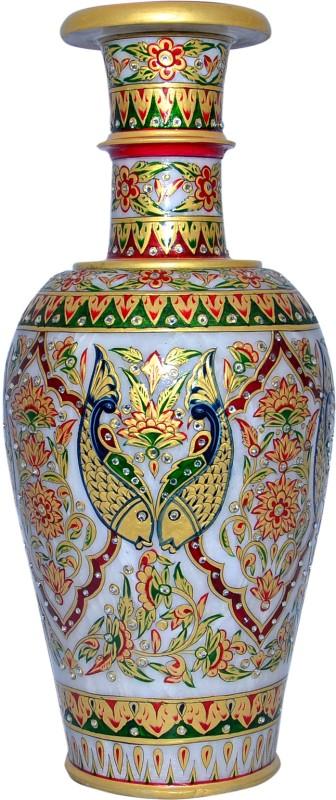 Vaah Marble Stoneware Vase(18 inch, Multicolor)