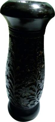 Handicraft Hand Made Wooden Vase(8 inch, Brown)