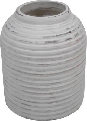 GolMaalShop Ribed Flower Wooden Vase