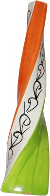 Odisha Bazaar Beautiful Flowers Ceramic Vase(13 inch, Multicolor)