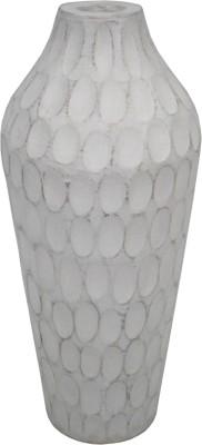 GolMaalShop Hammered Flower Wooden Vase
