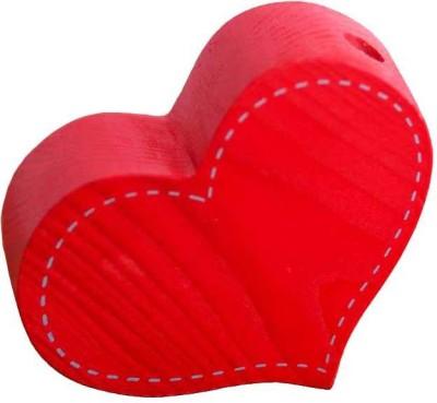 PoppadumArt Itsy-Bitsy - Heart Wooden, Glass Vase(3.2 inch, Red)