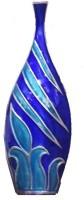 Kalaplanet Aluminium Vase(14 inch, Blue)
