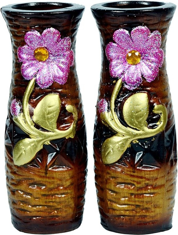 Orchard Ceramic Vase(8 inch, Brown)