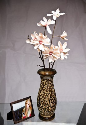 Decorhand Wooden Flower Wooden Vase