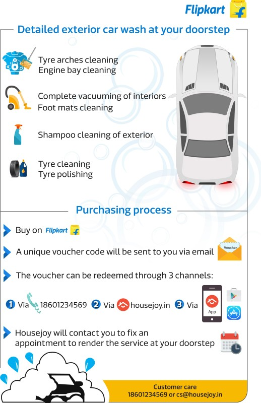 Housejoy Car Vehicle Care & Repair Code(1 month from the date of Purchase)