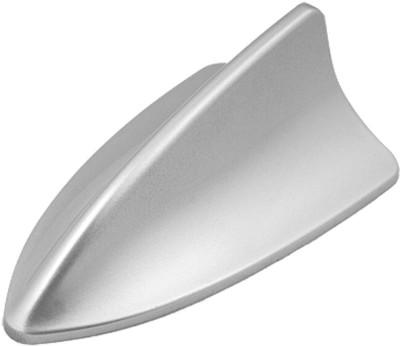 AutoStark Universal Shark Fin BMW Type Decorative Silver Whip Vehicle Antenna