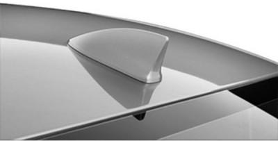 AutoStark Decorative Fin Shaped Car Antenna - Silver Whip Vehicle Antenna